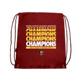 Cardinal Drawstring Backpack-Mens Basketball Champions Stacked