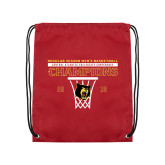 Cardinal Drawstring Backpack-2018 Mens Regular Season Basketball Champions