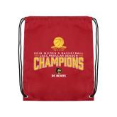 Cardinal Drawstring Backpack-2018 Womens Regular Season Basketball Champions