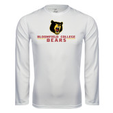 Syntrel Performance White Longsleeve Shirt-Bloomfield College Bears Stacked