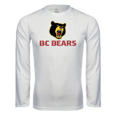 Syntrel Performance White Longsleeve Shirt-BC Bears Stacked