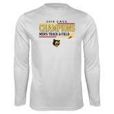Performance White Longsleeve Shirt-2018 CACC Mens Track and Field Champions