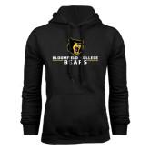 Black Fleece Hoodie-Bloomfield College Bears Stacked