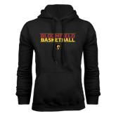 Black Fleece Hoodie-Basketball Stacked Design
