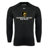 Under Armour Black Long Sleeve Tech Tee-Bloomfield College Bears Stacked