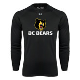 Under Armour Black Long Sleeve Tech Tee-BC Bears Stacked