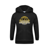 Youth Black Fleece Hoodie-Mens Basketball Champions with Ball