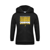 Youth Black Fleece Hoodie-Mens Basketball Champions Stacked