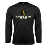 Syntrel Performance Black Longsleeve Shirt-Bloomfield College Bears Stacked