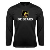 Syntrel Performance Black Longsleeve Shirt-BC Bears Stacked