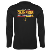 Performance Black Longsleeve Shirt-2018 CACC Mens Track and Field Champions