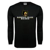 Black Long Sleeve TShirt-Bloomfield College Bears Stacked