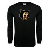 Black Long Sleeve TShirt-Bear Head