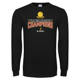 Black Long Sleeve T Shirt-2018 Womens Regular Season Basketball Champions