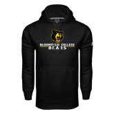 Under Armour Black Performance Sweats Team Hoodie-Bloomfield College Bears Stacked