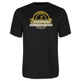 Syntrel Performance Black Tee-Mens Basketball Champions with Ball