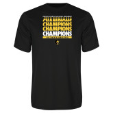 Syntrel Performance Black Tee-Mens Basketball Champions Stacked