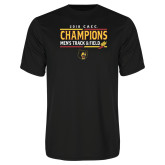 Performance Black Tee-2018 CACC Mens Track and Field Champions