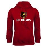 Cardinal Fleece Hoodie-BC Bears Stacked
