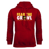 Cardinal Fleece Hoodie-Fear The Growl