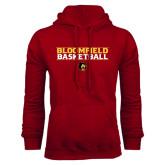 Cardinal Fleece Hoodie-Basketball Stacked Design
