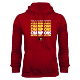 Cardinal Fleece Hoodie-Mens Basketball Champions Stacked