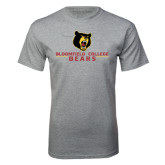 Grey T Shirt-Bloomfield College Bears Stacked