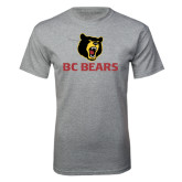 Grey T Shirt-BC Bears Stacked