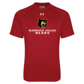 Under Armour Cardinal Tech Tee-Bloomfield College Bears Stacked