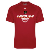 Under Armour Cardinal Tech Tee-Basketball Sharp Net Design