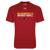 Under Armour Cardinal Tech Tee-Basketball Stacked Design