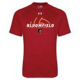 Under Armour Cardinal Tech Tee-Volleyball Half Ball Design
