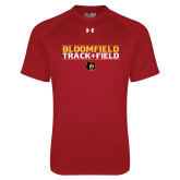 Under Armour Cardinal Tech Tee-Track and Field Stacked Design