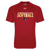 Under Armour Cardinal Tech Tee-Softball Stacked Design