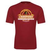 Syntrel Performance Cardinal Tee-Mens Basketball Champions with Ball