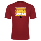 Syntrel Performance Cardinal Tee-Mens Basketball Champions Stacked