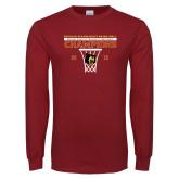 Cardinal Long Sleeve T Shirt-2018 Mens Regular Season Basketball Champions