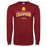 Cardinal Long Sleeve T Shirt-2018 Womens Regular Season Basketball Champions