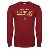 Cardinal Long Sleeve T Shirt-2018 CACC Mens Track and Field Champions