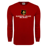 Cardinal Long Sleeve T Shirt-Bloomfield College Bears Stacked