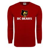 Cardinal Long Sleeve T Shirt-BC Bears Stacked