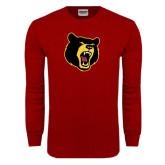 Cardinal Long Sleeve T Shirt-Bear Head