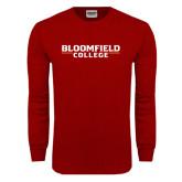 Cardinal Long Sleeve T Shirt-Wordmark
