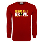Cardinal Long Sleeve T Shirt-Fear The Growl