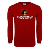 Cardinal Long Sleeve T Shirt-Track and Field