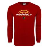Cardinal Long Sleeve T Shirt-Soccer Ball Design