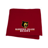 Cardinal Sweatshirt Blanket-Bloomfield College Bears Stacked