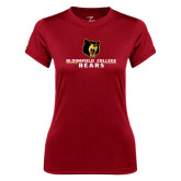 Ladies Syntrel Performance Cardinal Tee-Bloomfield College Bears Stacked