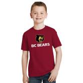 Youth Cardinal T Shirt-BC Bears Stacked