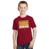 Youth Cardinal T Shirt-Mens Basketball Champions Stacked